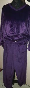 Roaman Vintage Purple Velour Track Suit